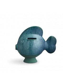 Kähler Sparedyr Mørkegrøn fisk H15 cm.-20