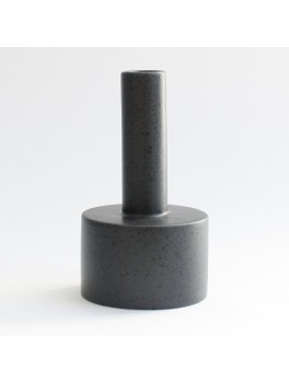 Ania Kalle candle holder Dark grey dots H16xØ9 cm.-20