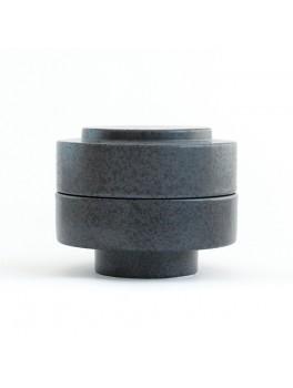Ania Karen Jar w. lid Dark grey dots H11,5xØ13,5 cm.-20