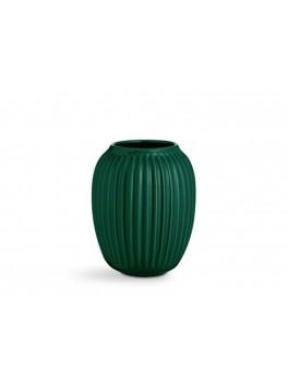 Kähler Hammershøi, Vase, grøn, 20 cm.-20
