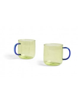 Hay - Borosilicate krus - Lime/ blå