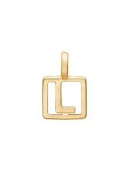 Enamel Letter Guld L-20