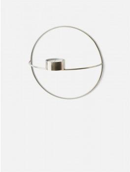 Menu POV Circle Tealight candleholder Silver-20