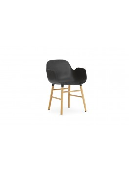 Normann Cph Form Armchair black/oak variende levering-20
