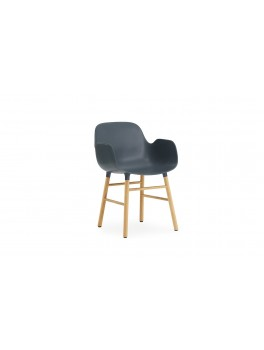 Normann Cph Form Armchair blue/oak varierende levering-20