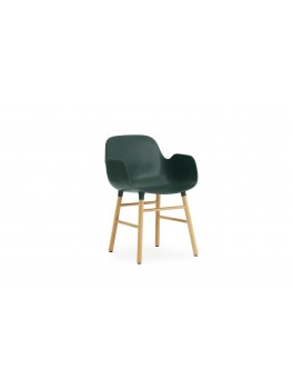Normann Cph Form Armchair green/oak varierende levering-20
