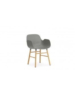 Normann Cph Form Armchair grey/oak varierende levering-20