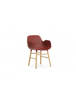 Normann Cph Form Armchair red/oak varierende levering-20