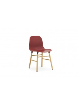 Normann Cph Form Chair red/oak varierende levering-20