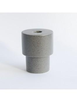 Ania Olesen vase Light grey dots H12xØ8,5 cm.-20