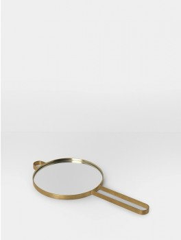 Ferm Living Poise Hand Mirror, messing-20