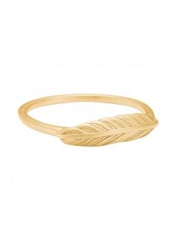 Enamel Copenhagen Fingerring, feather Guld str. 54-20