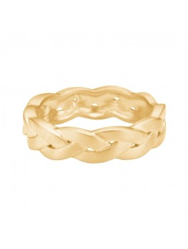 Enamel Copenhagen Fingerring, braided Guld str. 52-20
