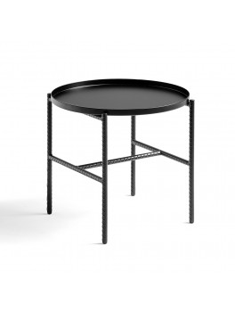 Hay Rebar Round Side Table, black.-20