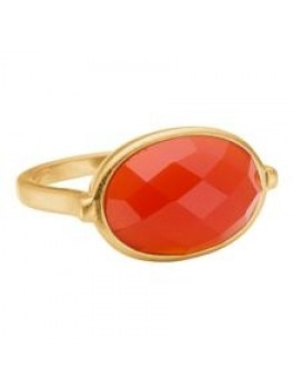 Enamel Precious ring Orange str. 52-20