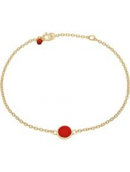 Enamel Bracelet, color dot Ruby-20