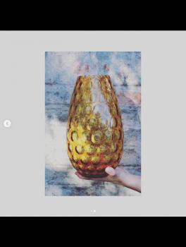 Anna von Lipa Dråbeformet vase amber-20