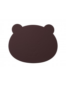 LindDNA Bear tablemat Softbuck (Bordeaux)-20