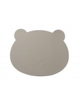 LindDNA Bear table mat Softbuck (Light Grey)-20