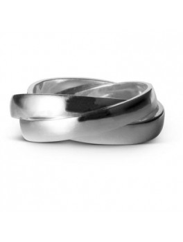 Enamel Trinity ring sølv str. 52-20