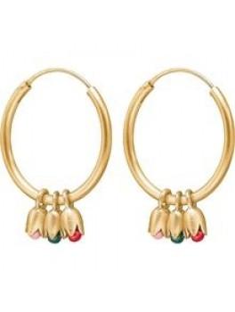Enamel Tulip earring Guld-20