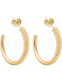 Enamel Twisted earring Guld-20
