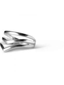 Enamel V-Shape ring Sølv Justerbar-20