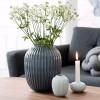 Kähler Hammershøi vase (lille) Antracit grå-01