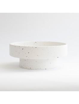 Ania - Ida double dish - White dots - H7,5xØ20 cm.