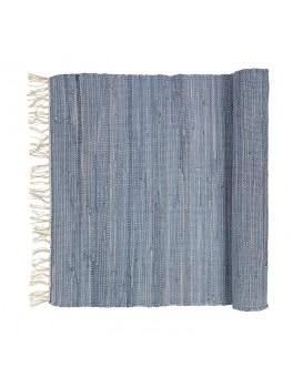 Broste - Tæppe 'Chindi' - Blå melange - 60x90 cm