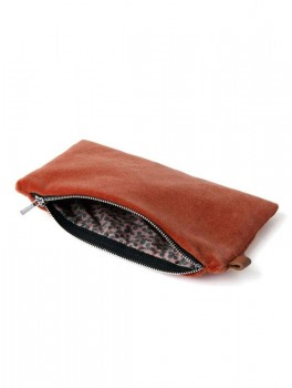 Semibasic - Lush pocket - Coral red - 18x10 cm.