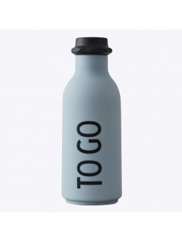 Design Letters - To Go water bottle - Grå
